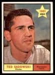 1961 Topps #254  Ted Sadowski  Front Thumbnail