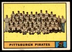 1961 Topps #554   Pirates Team Front Thumbnail