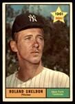 1961 Topps #541  Roland Sheldon  Front Thumbnail