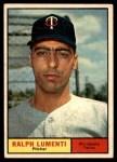 1961 Topps #469  Ralph Lumenti  Front Thumbnail