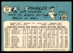 1965 Topps #164  Al Spangler  Back Thumbnail