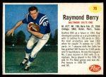 1962 Post #76  Raymond Berry  Front Thumbnail