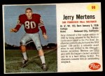1962 Post #99  Jerry Mertens  Front Thumbnail