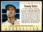 1963 Post #117  Tommy Davis  Front Thumbnail