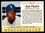 1963 Post Cereal #44  Juan Pizarro  Front Thumbnail