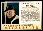 1963 Post Cereal #140  Don Hoak  Front Thumbnail