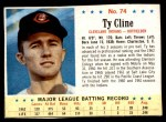 1963 Post #74  Ty Cline  Front Thumbnail