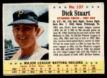 1963 Post #137  Dick Stuart  Front Thumbnail