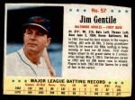 1963 Post #57  Jim Gentile  Front Thumbnail