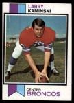 1973 Topps #503  Larry Kaminski  Front Thumbnail