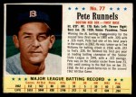 1963 Post #77  Pete Runnels  Front Thumbnail