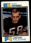 1973 Topps #173  Don Hansen  Front Thumbnail