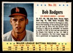 1963 Post #31  Bob Rodgers  Front Thumbnail