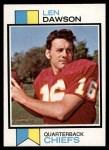 1973 Topps #335  Len Dawson  Front Thumbnail