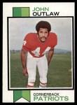 1973 Topps #384  John Outlaw  Front Thumbnail