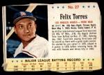 1963 Post #27  Felix Torres  Front Thumbnail