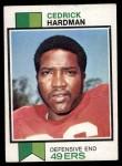 1973 Topps #412  Cedrick Hardman  Front Thumbnail
