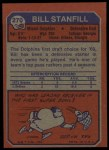 1973 Topps #270  Bill Stanfill  Back Thumbnail