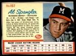 1962 Post #157  Al Spangler   Front Thumbnail