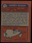 1973 Topps #273  Harry Schuh  Back Thumbnail