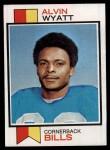1973 Topps #362  Alvin Wyatt  Front Thumbnail