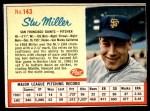 1962 Post #143  Stu Miller   Front Thumbnail