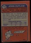 1973 Topps #384  John Outlaw  Back Thumbnail