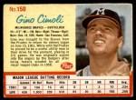 1962 Post #150  Gino Cimoli   Front Thumbnail