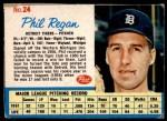 1962 Post Cereal #24  Phil Regan   Front Thumbnail