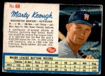 1962 Post #69  Marty Keough   Front Thumbnail
