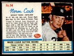 1962 Post #14 RGT Norm Cash  Front Thumbnail