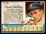 1962 Post Cereal #56  Chuck Schilling   Front Thumbnail