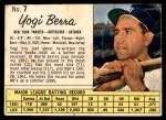 1962 Jello #7  Yogi Berra  Front Thumbnail