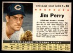 1961 Post Cereal #59 BOX Jim Perry   Front Thumbnail