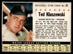 1961 Post Cereal #31 BOX Ted Kluszewski   Front Thumbnail