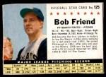 1961 Post #125 BOX Bob Friend  Front Thumbnail