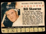 1961 Post Cereal #3 BOX Bill Skowron   Front Thumbnail