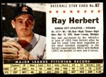 1961 Post #87 BOX Ray Herbert   Front Thumbnail
