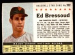 1961 Post #152 BOX Ed Bressoud   Front Thumbnail