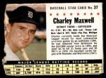 1961 Post Cereal #37 BOX Charlie Maxwell   Front Thumbnail