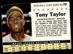 1961 Post #118 BOX Tony Taylor   Front Thumbnail