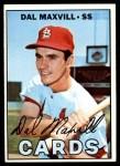 1967 Topps #421  Dal Maxvill  Front Thumbnail