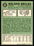 1967 Topps #404  Nelson Briles  Back Thumbnail