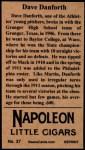 1912 T207 Reprint #37  Dave Danforth  Back Thumbnail
