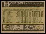 1961 Topps #208 xCOM Larry Osborne  Back Thumbnail
