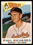1960 Topps #224  Paul Richards  Front Thumbnail