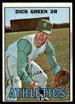 1967 Topps #54  Dick Green  Front Thumbnail