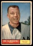 1961 Topps #116  Joe DeMaestri  Front Thumbnail