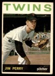 1964 Topps #34  Jim Perry  Front Thumbnail