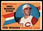 1960 Topps #146   -  Ted Wieand Rookie Star Front Thumbnail